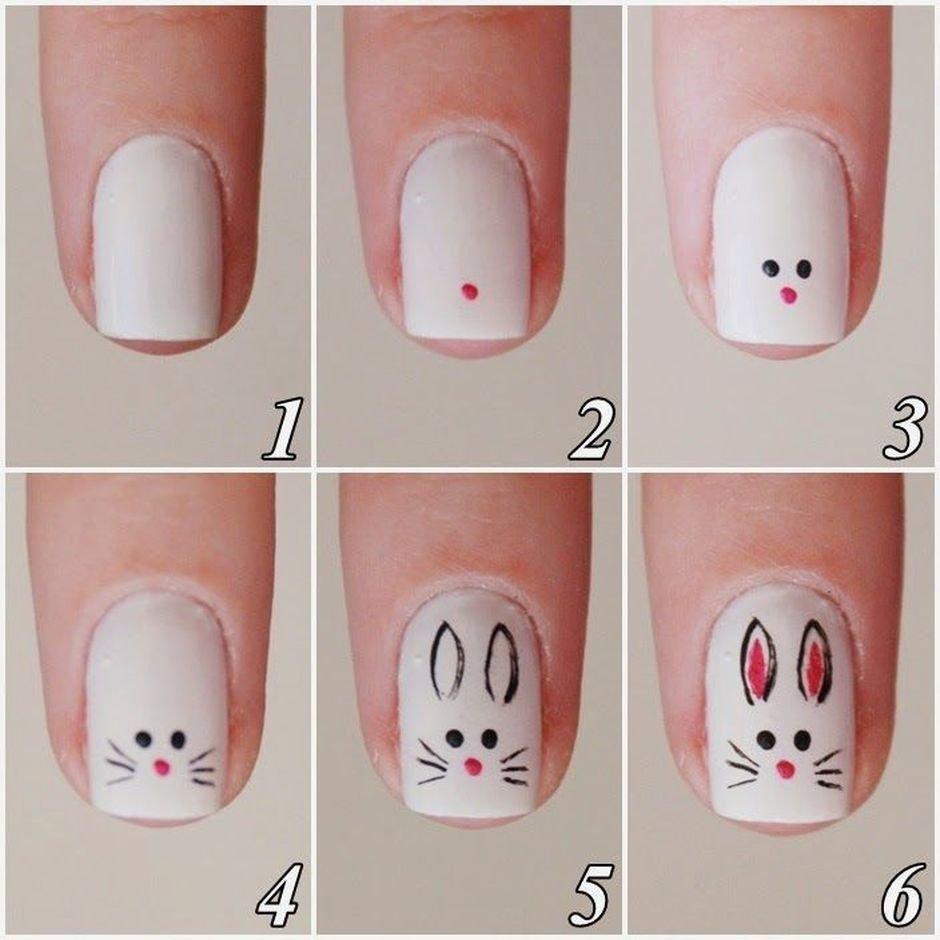 Легкие и красивые рисунки на ногтях пошаговое фото