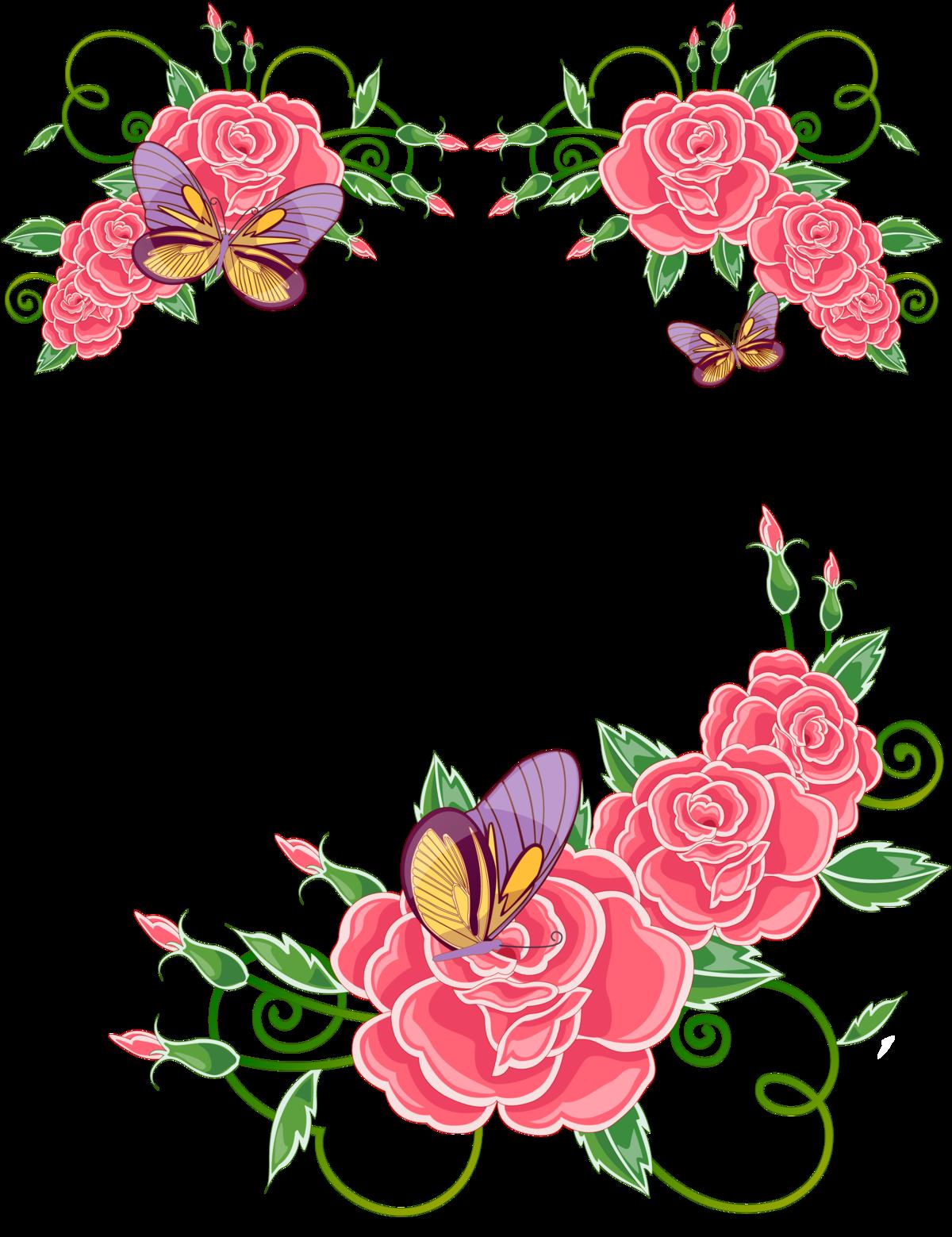 Цветов без, орнаменты цветочные для открыток