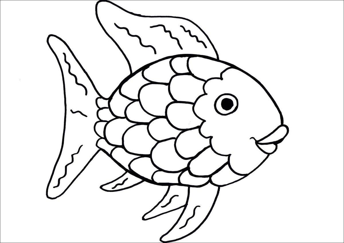 Картинки рыбы для раскраски