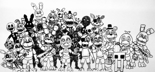 fnaf world coloring pages Free Coloring Pages Of Full Body Bonnie Fnaf   Withered Foxy  fnaf world coloring pages
