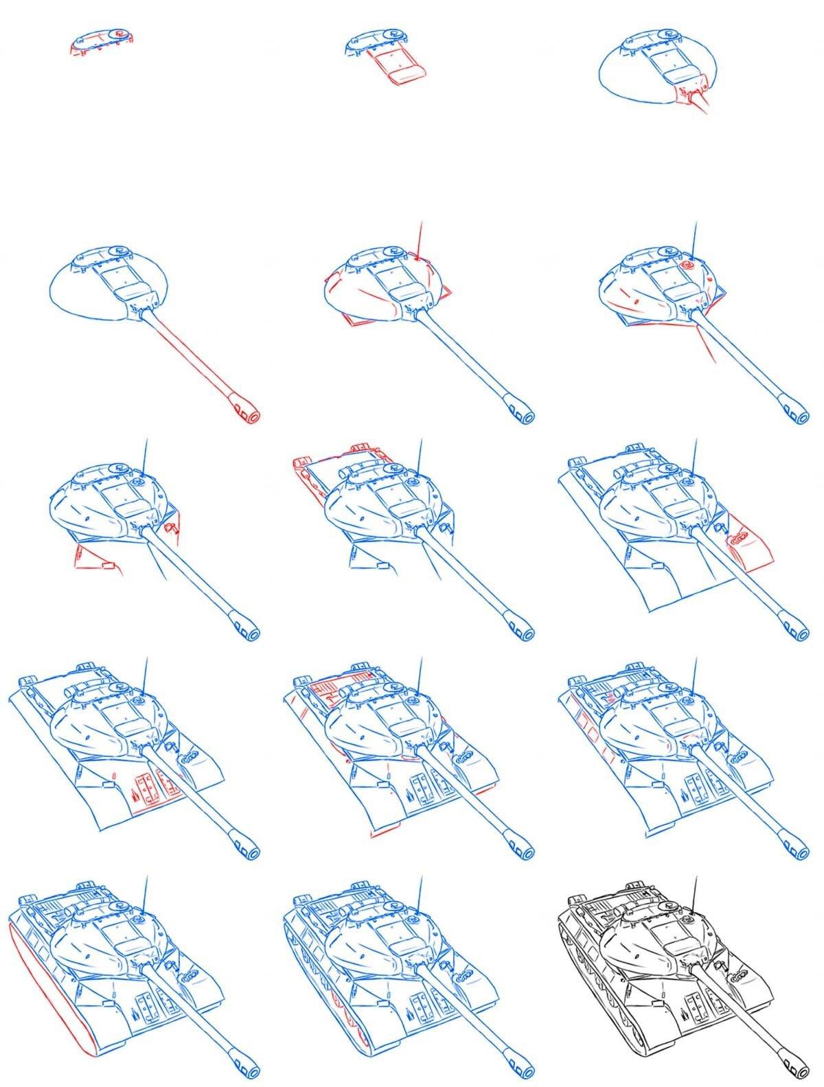 картинки танка поэтапно для начинающих экологичный, износостойкий