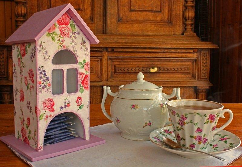 декупаж чайных домиков фото