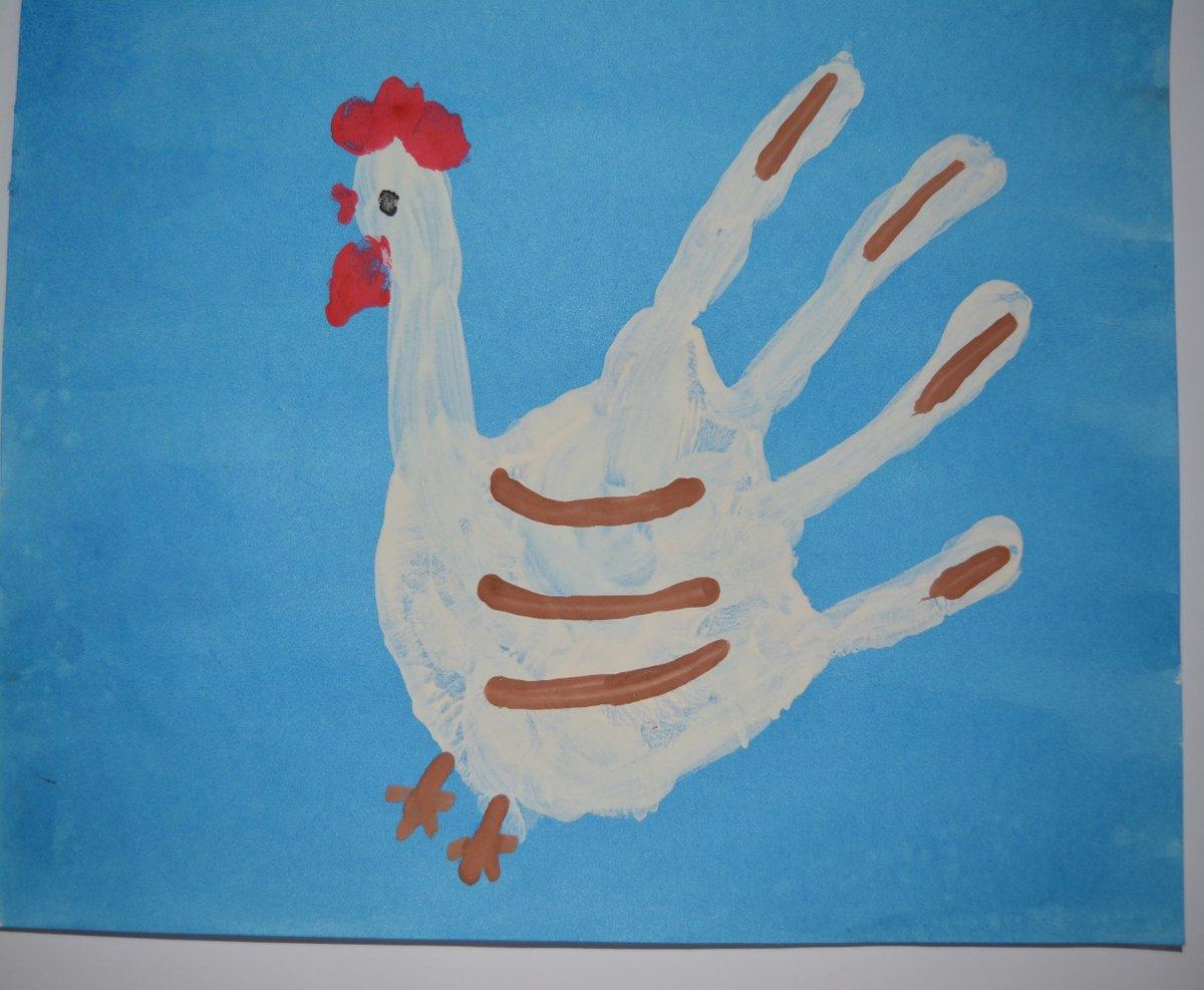 Рисунок из ладошек для детей