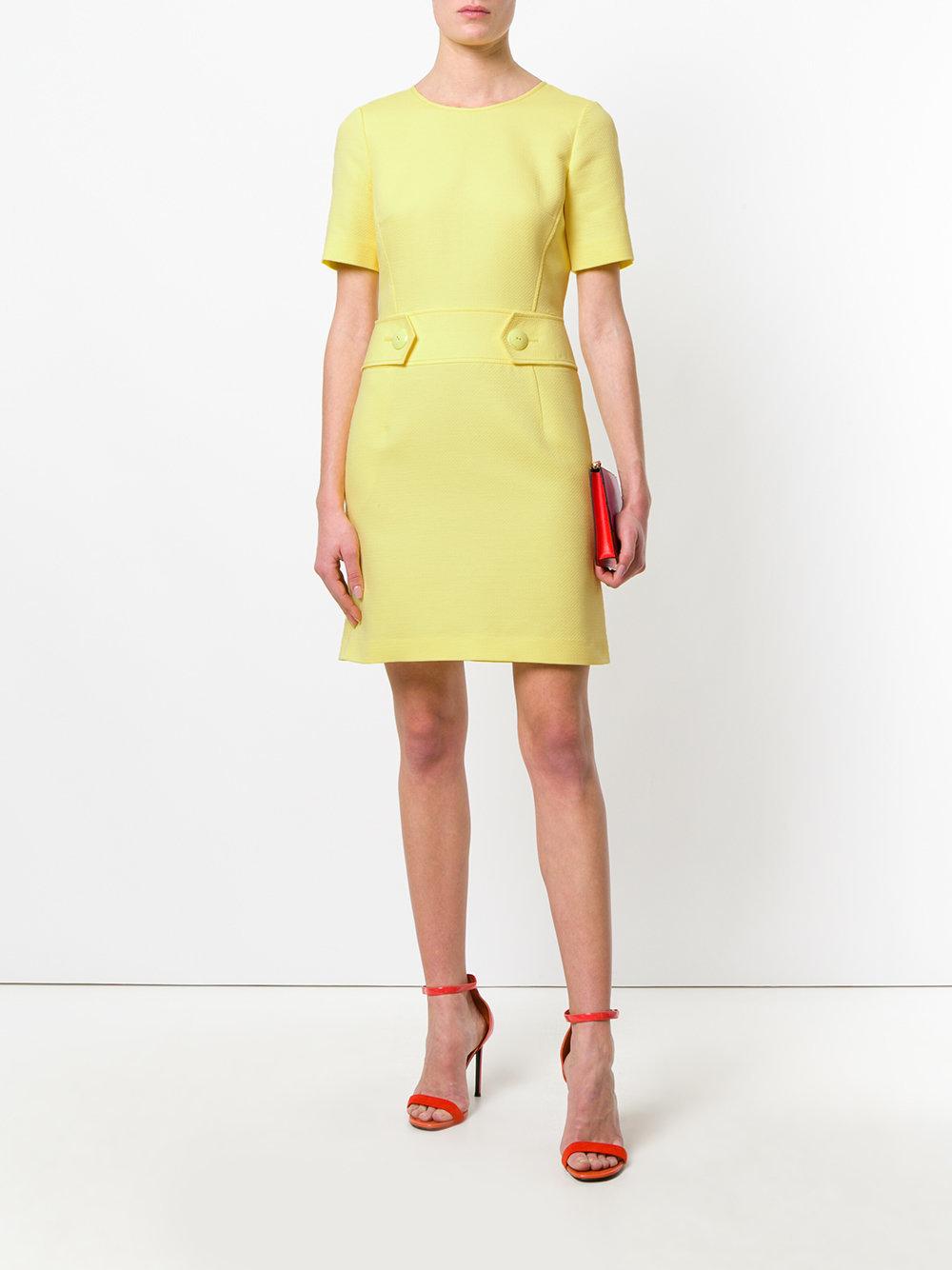 12682187a8e ... Желтое мини-платье шифт из хлопка и шелка от Emilio Pucci(Эмилио Пуччи)