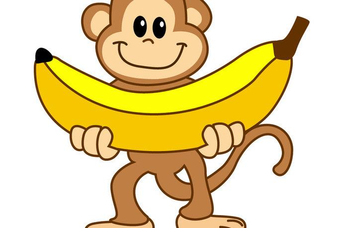 картинки обезьянка с бананами