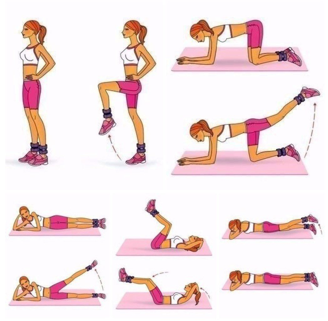тренировки для похудения ног и бедер