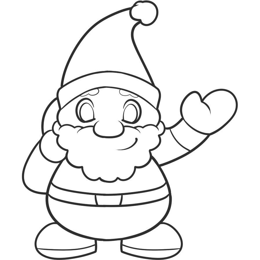 санта клаус рисунки карандашом легкие стрип