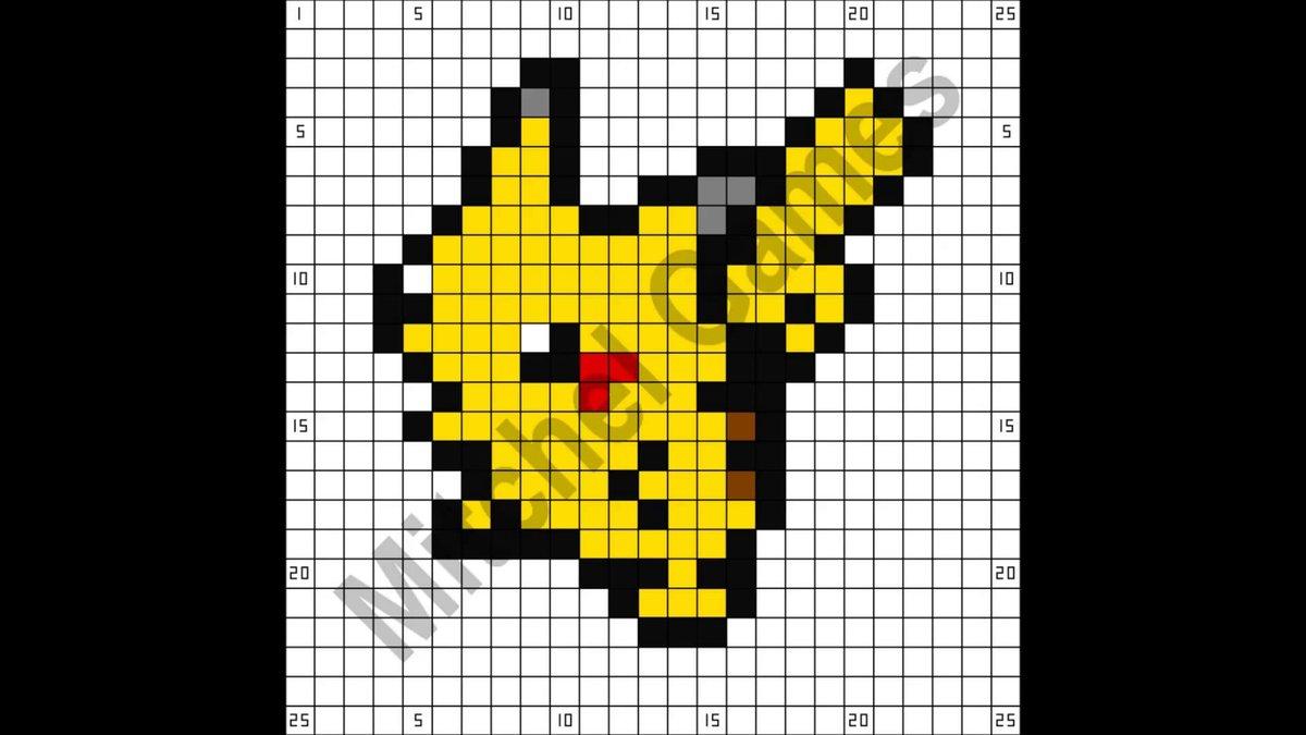 Pixel Art De Pikachu