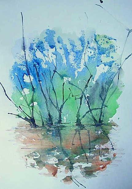 Картинки монотипия пейзаж весна, поздравления дню