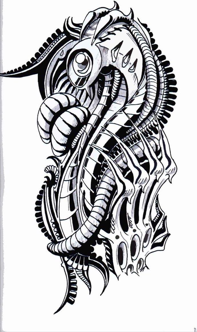 тату эскизы рисунки биомеханика стиль анималистику