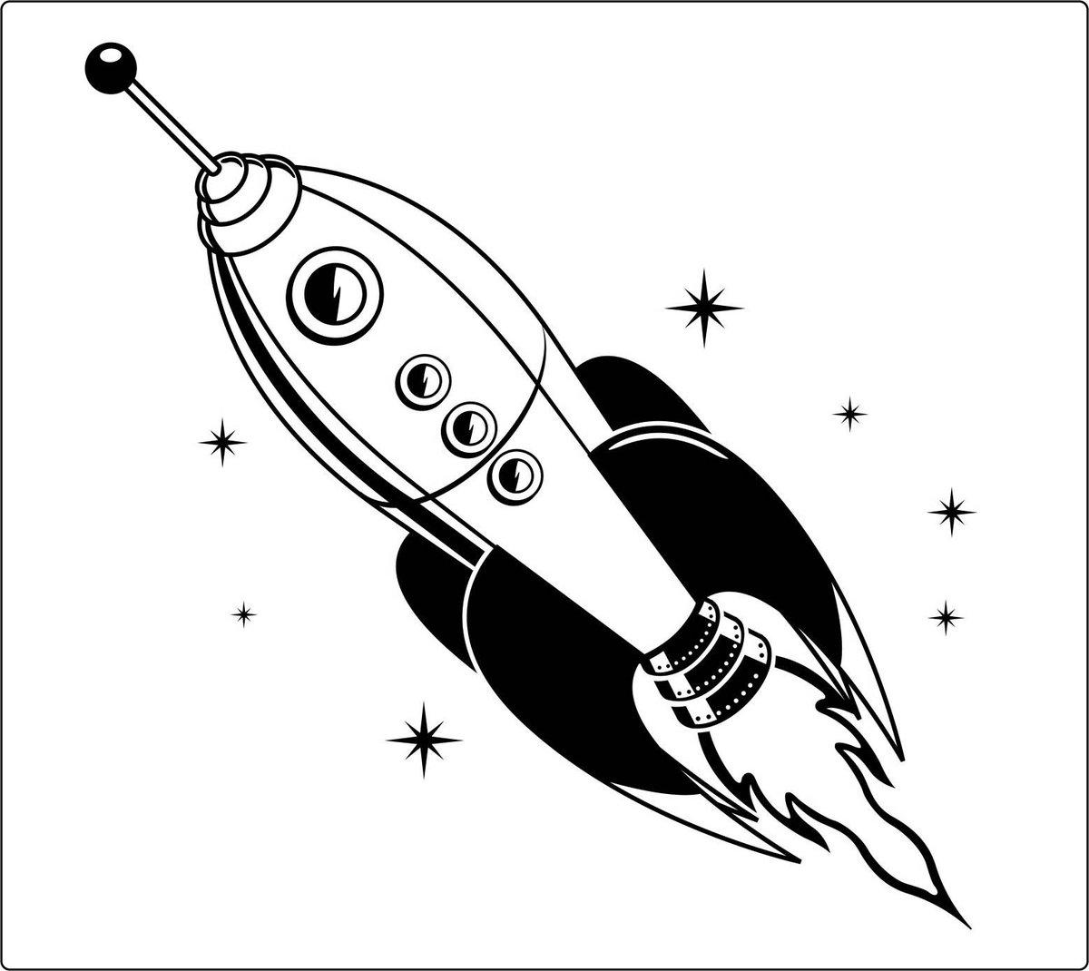 черно-белые картинки для распечатки ракеты возможное количество