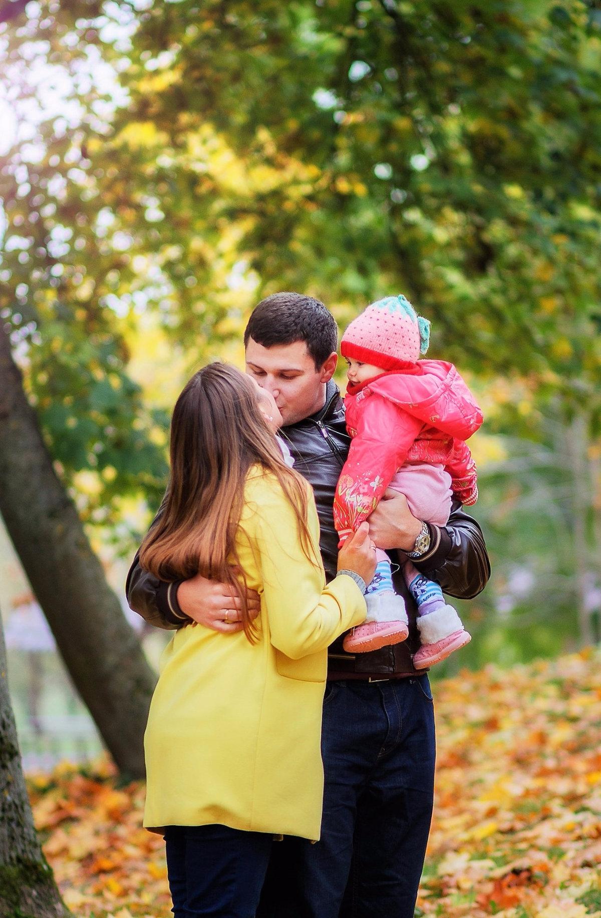 Фотосессия в парке семьей