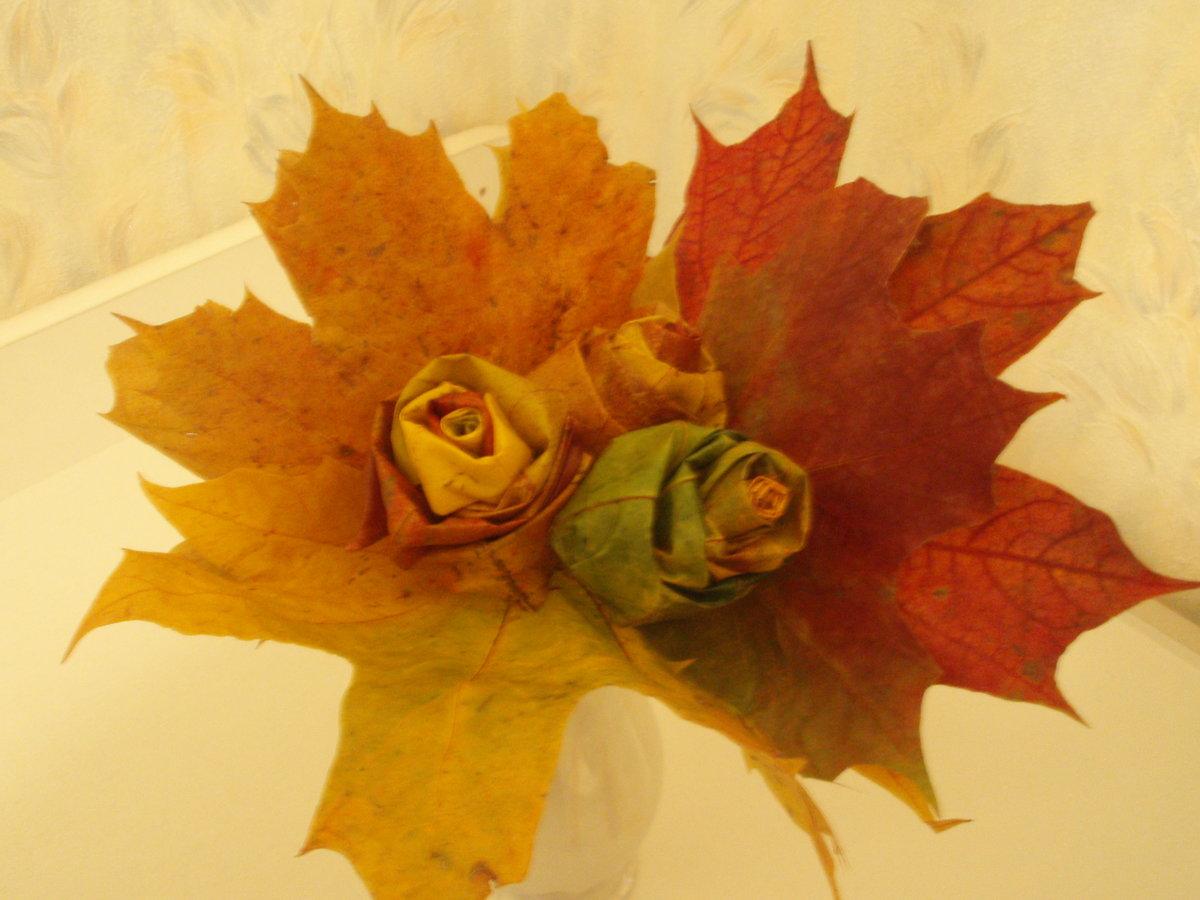 Свадебный букет, красивый букет из листьев деревьев