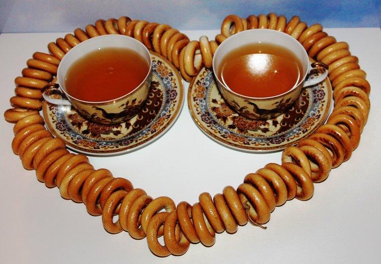 Чай с сушками картинки