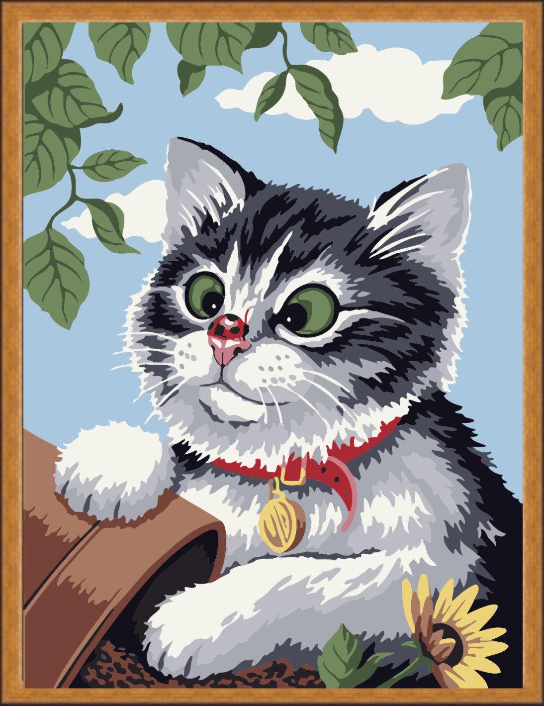 Букет, прикольные картинки нарисованных котят