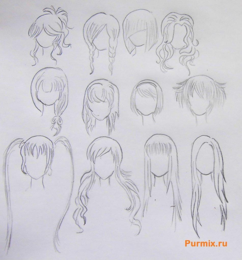 Рисунок аниме поэтапно карандашом