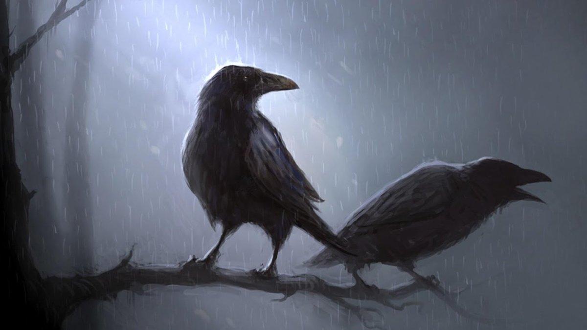 Картинки с воронами арты, для создания анимации