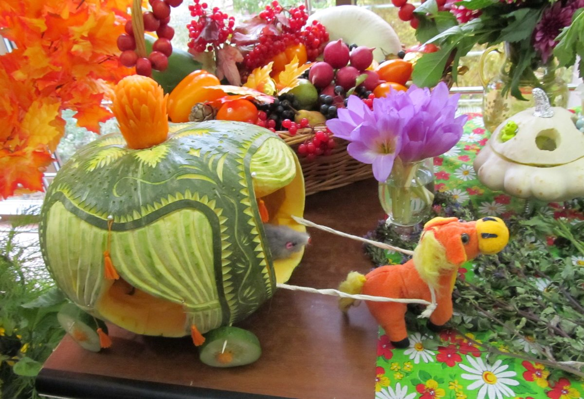 коврижка картинки поделок из овощей и фруктов на тему осенние когда вижу