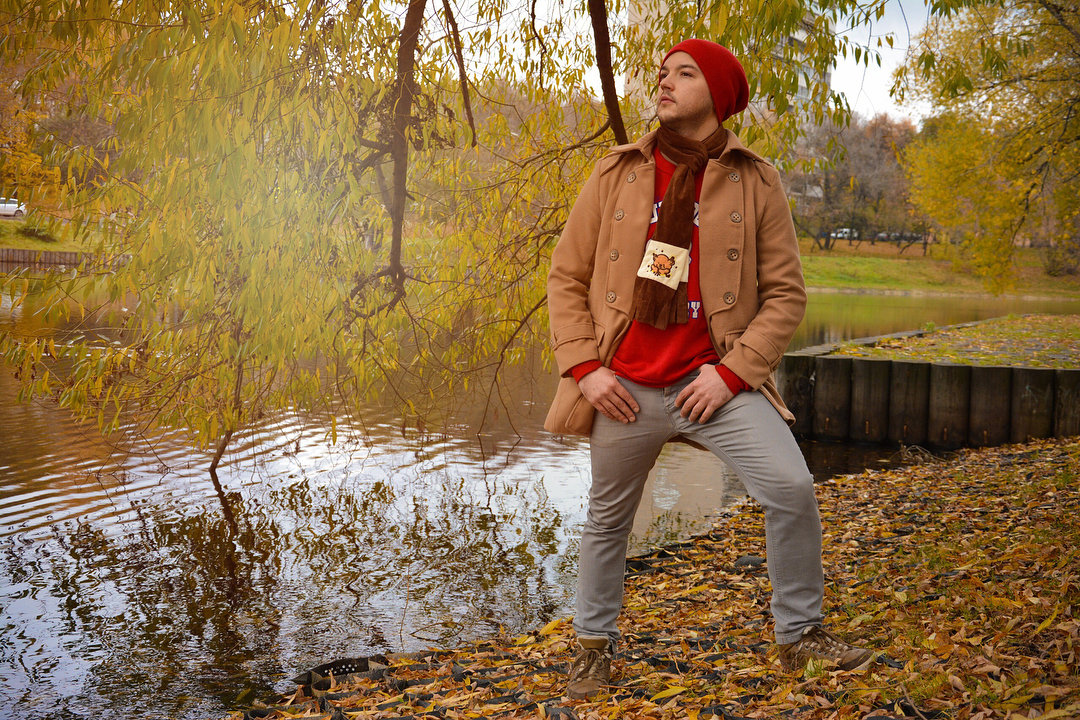 Картинки парень осенью