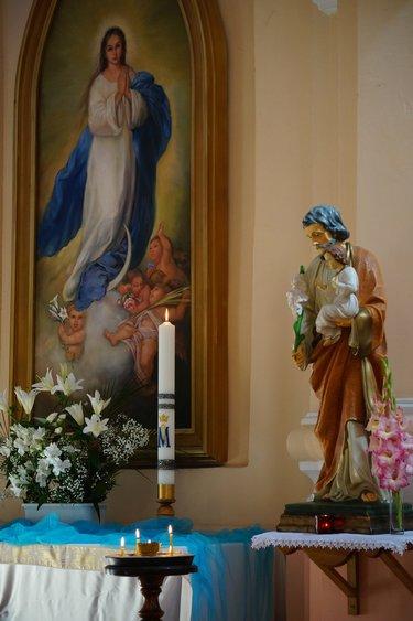 изображение девы марии в католической церкви