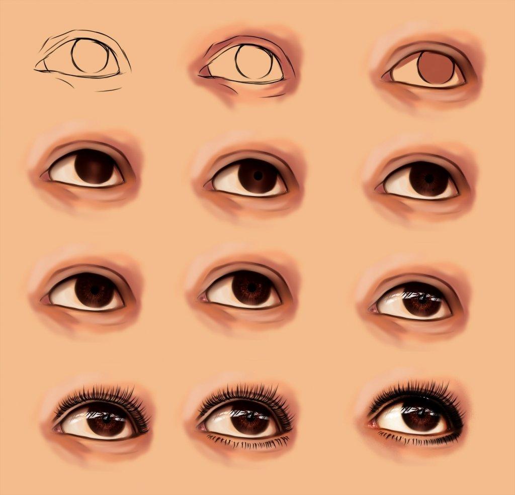 рассказал как рисовать глаза фотореалистично леди, солидные
