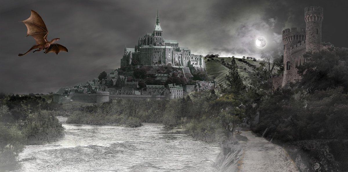 картинка дракон над замком укладывается