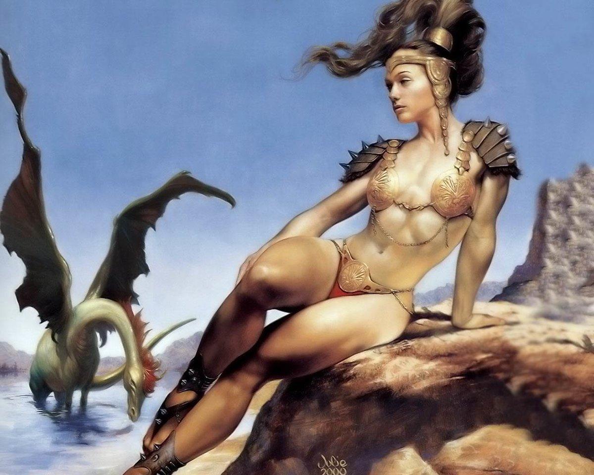 эротические рисунки в стиле фэнтази