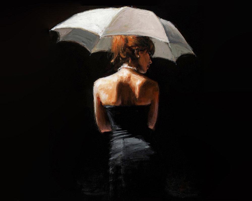 Открытки девушка под зонтом, надписями поздравляю