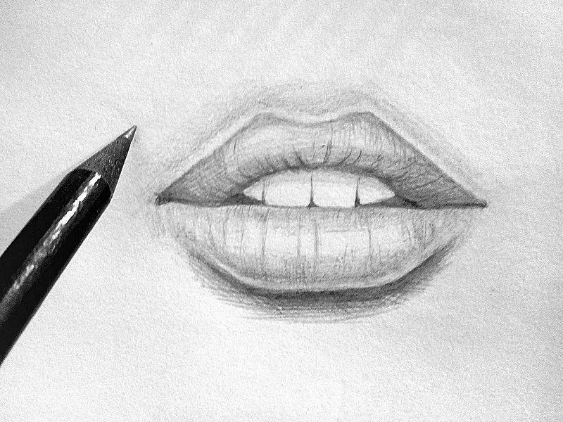 Картинки порисовать легкие губы