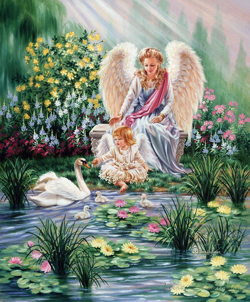 Стихи картинки про ангелочка на небе