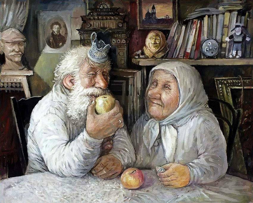 Оксаночке день, смешные картинки про деда и бабку
