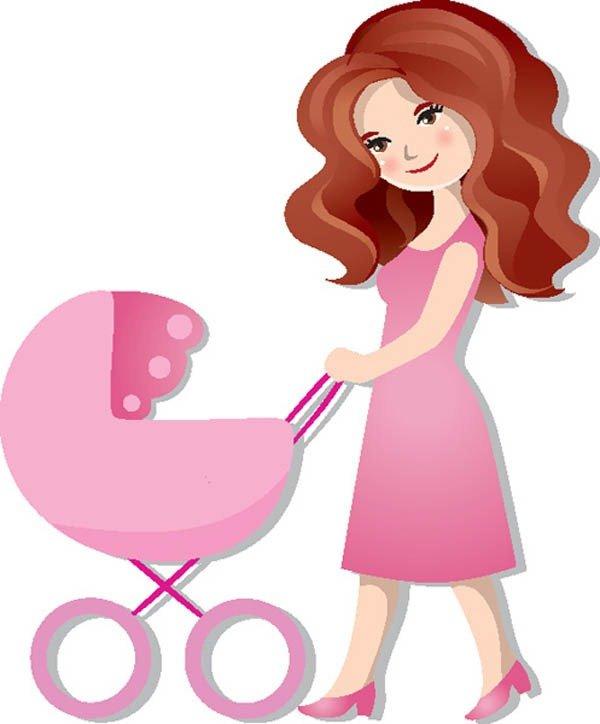 Открытки, картинки для детей мама на прозрачном фоне