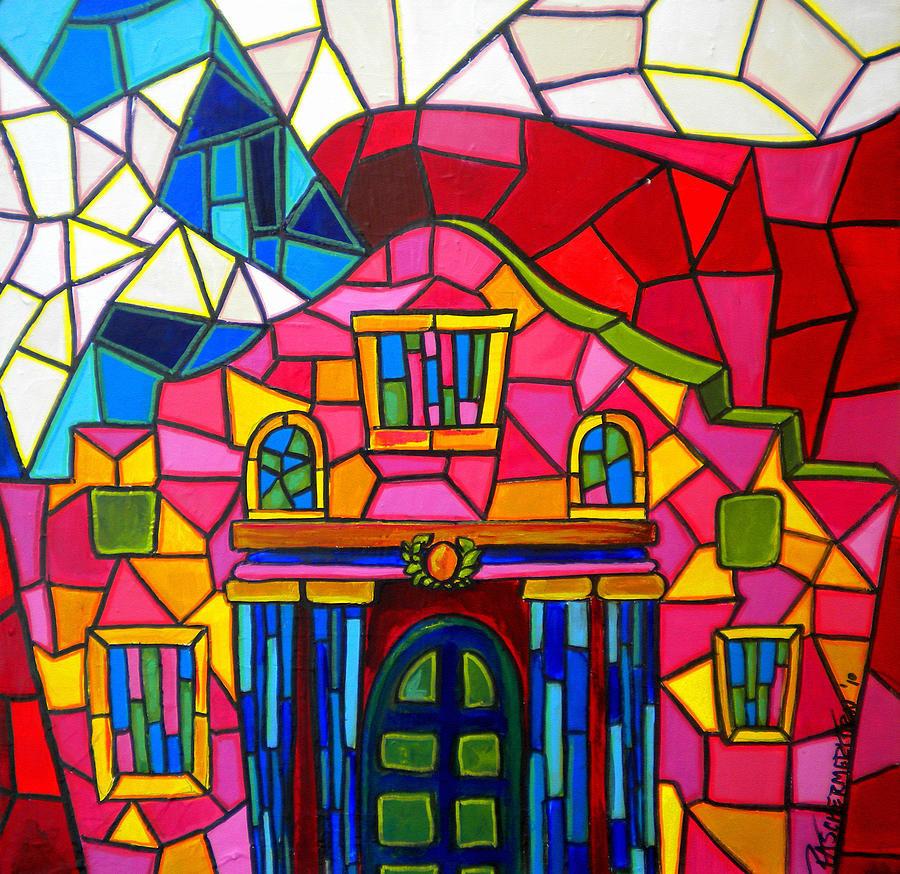Мозаика картинки из краски для