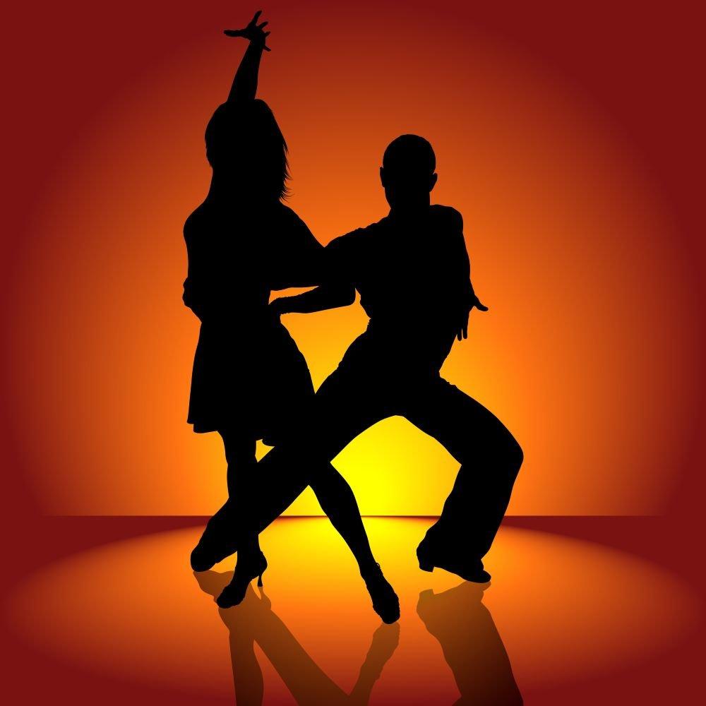Открытка танцев, надписью