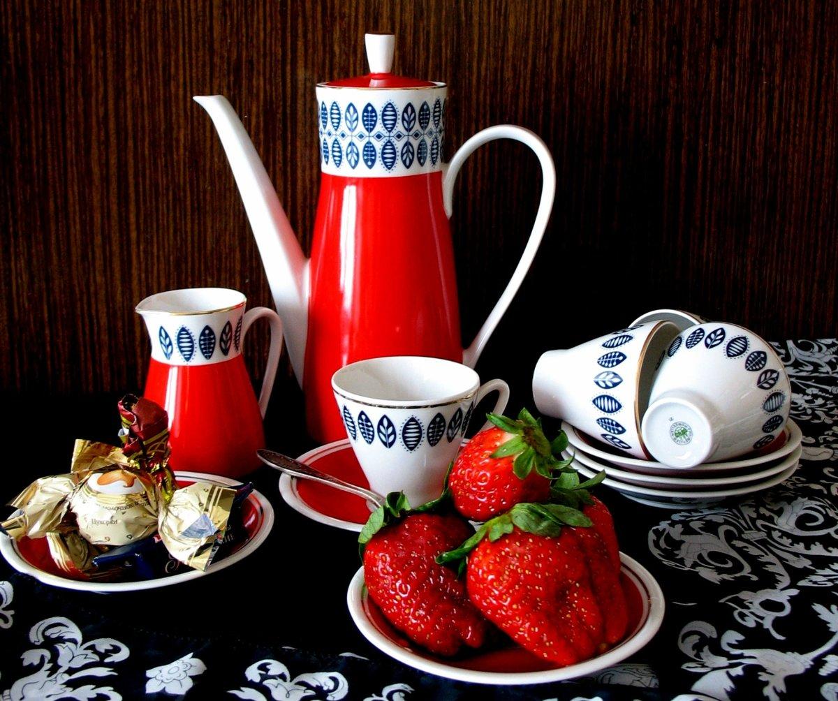 Дружеский, открытка утро чай