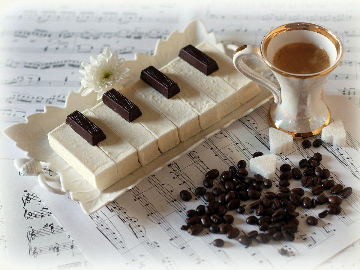 Открытка кофе и шоколад