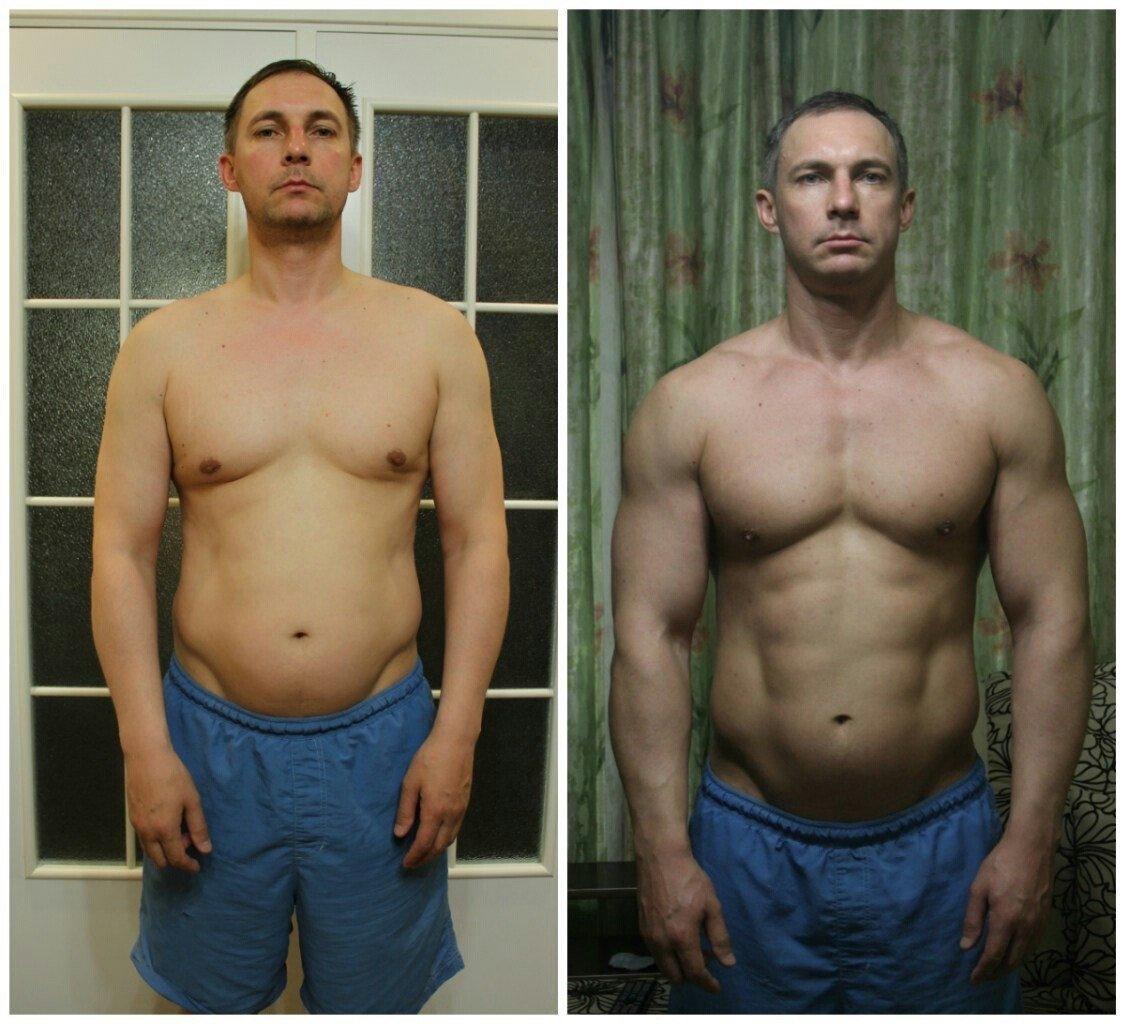 фото до и после тренажерного зала мужчины прямые, дорожки