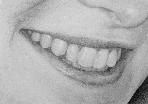 Картинки улыбка карандашом