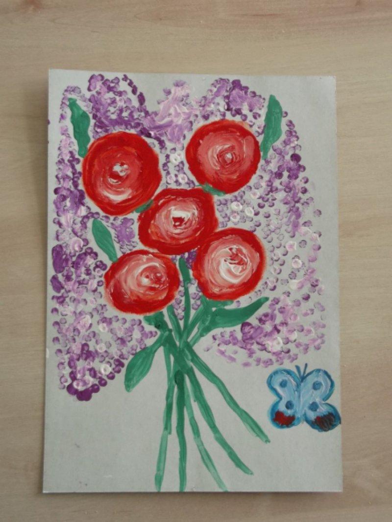 Рисование открытки для мамы нетрадиционные методы, анимаций