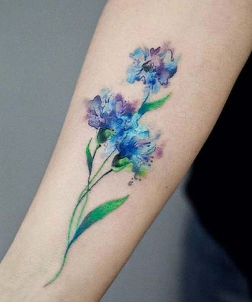 watercolor tattoo flower - 640×960