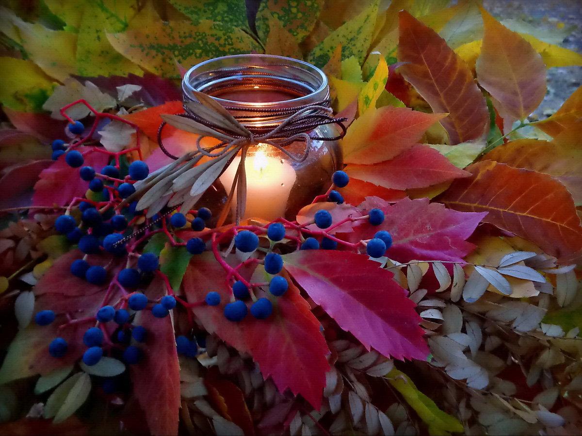Открытки вечерняя осень