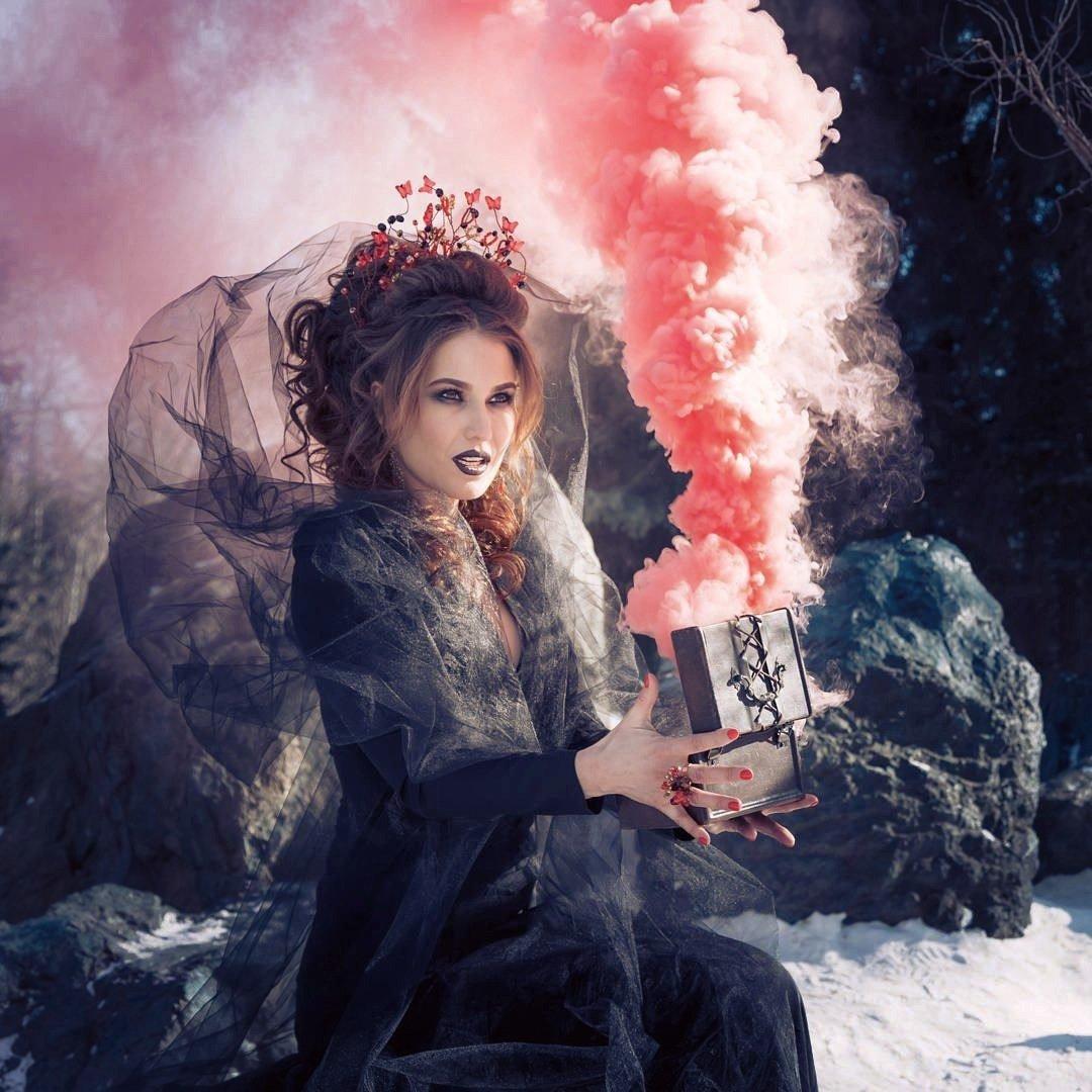 Странные фотосессии с дымом