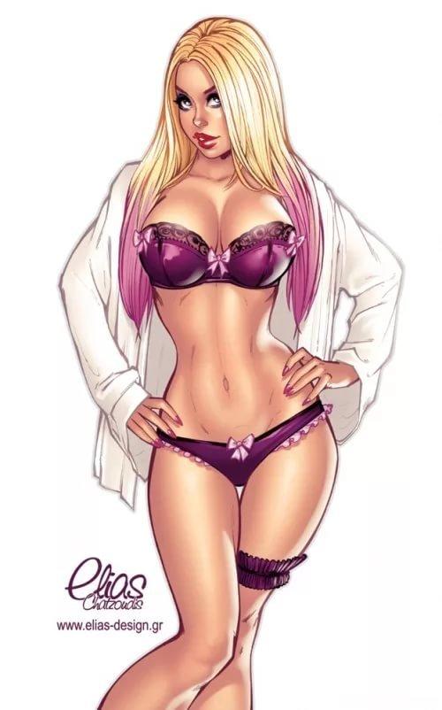 нарисованные картинки сексуальных девушек - 8