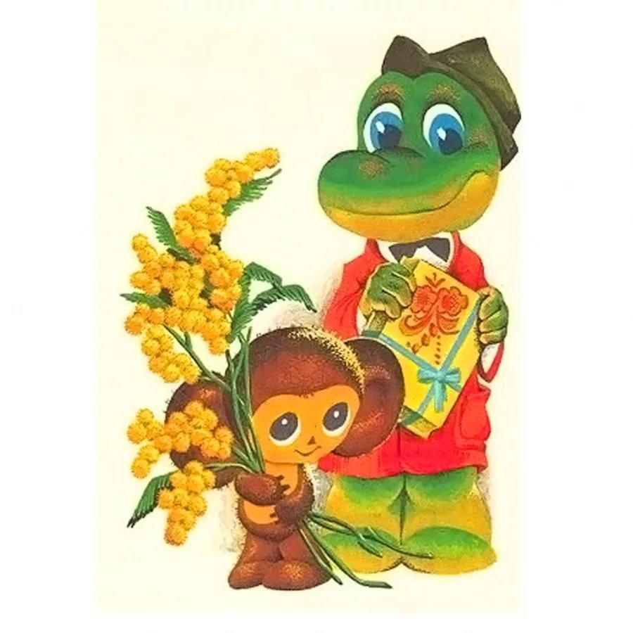 Открытки приятного, открытки мультяшки 8 марта