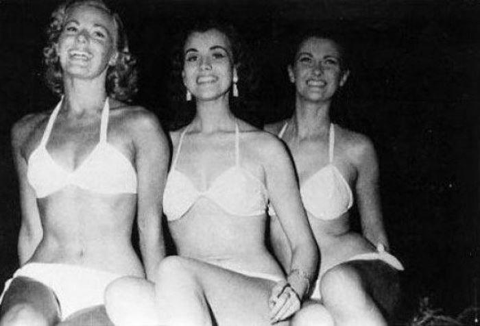 """Тройка победительниц конкурса """"Мисс Мира"""" 1951 г."""