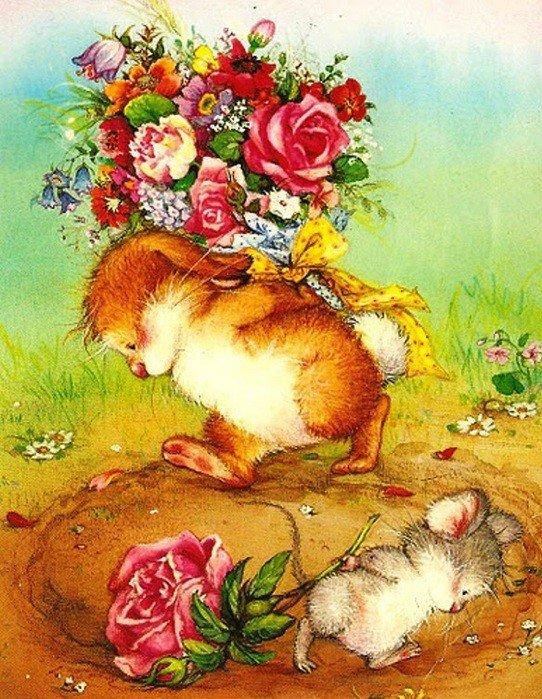 Поздравления картинки с животными