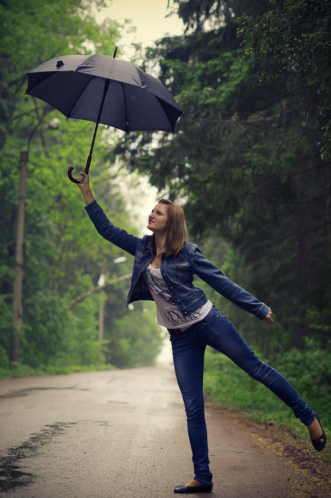 фотосеты позы с зонтом снизу зеленые или