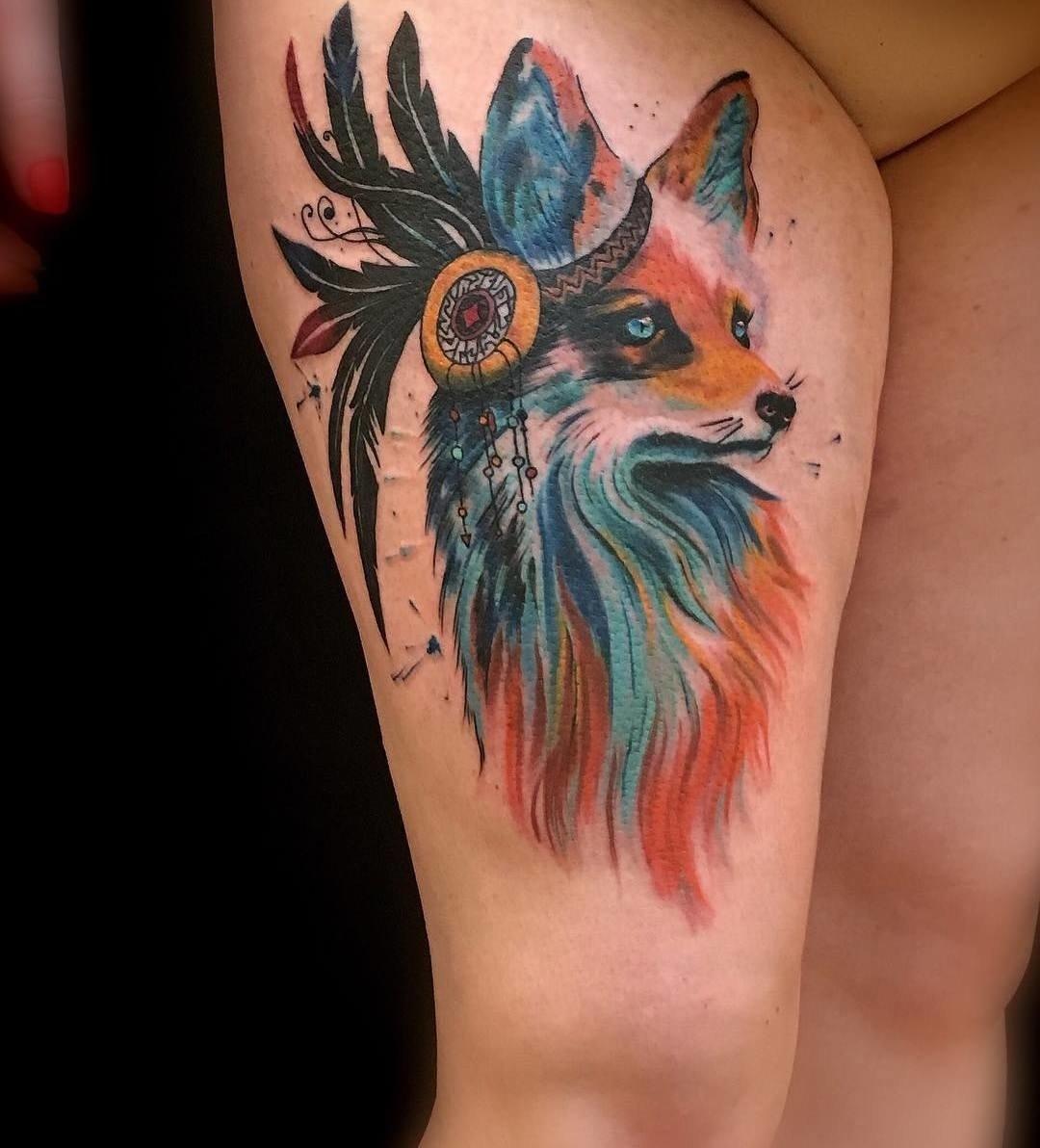 Аллочки, картинки с татуировкой лисы