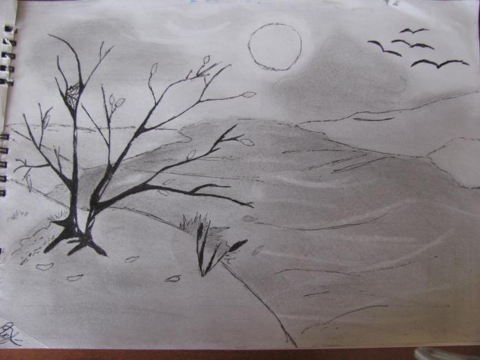 весенние рисунки карандашом легкие что