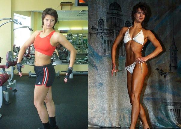 результаты фитнеса фото до и после
